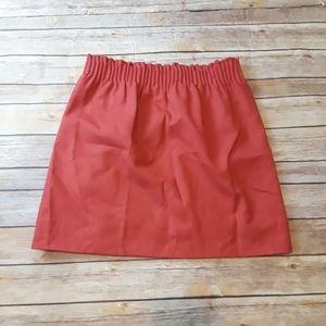 J Crew Wool Blend Paperbag Mini Skirt